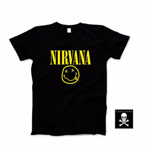 Remera De Algodon Para Chicos Nirvana Rock