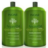 Kit Argan Inoar Salão Shampoo + Condicionador 2,8 Litros