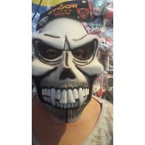 Disfraz Mascara Latex Calavera Dientuda Spook Halloween
