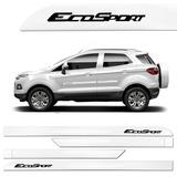 Friso Lateral Ford Nova Ecosport 2013 A 2017 Branco Ártico ,
