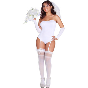 Disfraz Sexy Para Dama Novia Despedida De Soltera Sensual