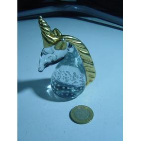 Figura Pequeña De Cristal De Murano Figura Unicornio