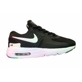 96af27b3ec90 ... Tenis Nike Air Max Zero Be True Negro Suela Blanca .