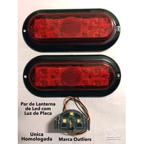 Par Lanterna De Led Carreta Carretinha Reboque A Provad