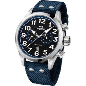 Tw Steel Volante Dark Blue Dual Time Acero Dv Vs38 Diego Vez