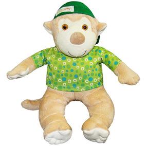Pelúcia Macaco Tico Verde - Anjos Baby