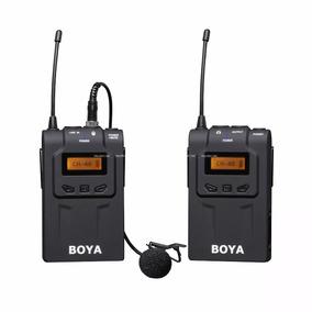 Microfone Lapela Sem Fio Boya By-wm6 P/ Filmadoras Cameras