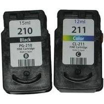 Canon Pg-210 + 211 Com Mais Tinta + Kit Recarga Fácil