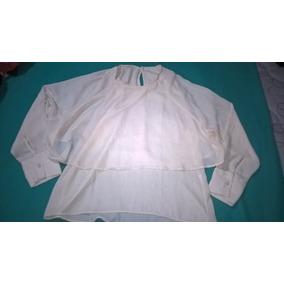 Camisa Gasa Marca Inedita Talle36/38 Nueva Color Crema
