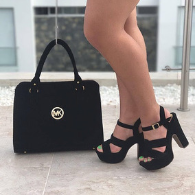 Sandalias Altas Plataforma Y Bolso Combo Calzado Colombiano