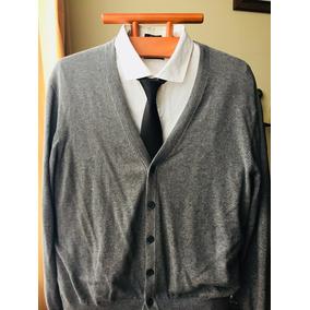 Sweater Chaleco Cardigan Clásico Botones Gris Hombre L ec3cfa807ec0