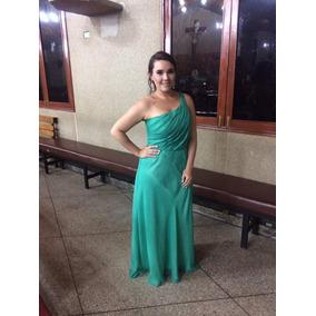 Vestido verde caramelo