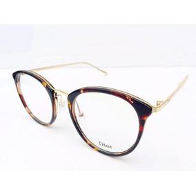 Lata Redonda Dourada De Grau Dior - Óculos no Mercado Livre Brasil 03a96a1b4d