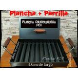 Plancha, Churrasquera 2 Hornallas Alta C/tapa + Parrilla