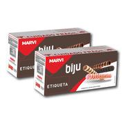 Kit Canudinho Biju Marvi Recheado Chocolate 4 Kg