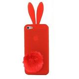 Newstore Cute Lovely Rabbit Silicone Bunny Case Cove - Rojo