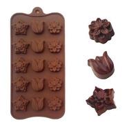 Molde Silicona Flores Chocolate Bombones