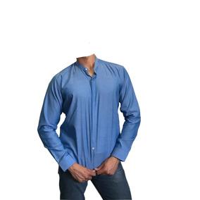 Camisa Slim Fit Mao Indigo - Peaceful