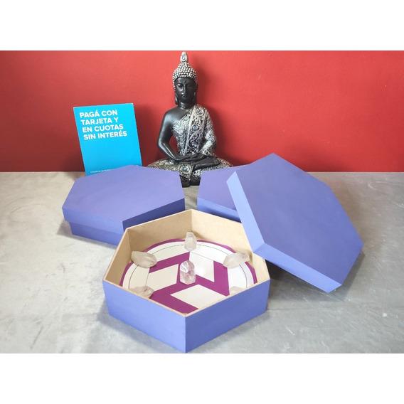Caja De Reiki + Set Cuarzo Cristal - Llama Sagrada