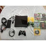 Xbox 360 Slime Original Con 5 Juegos Carga Y Juega 1 Control