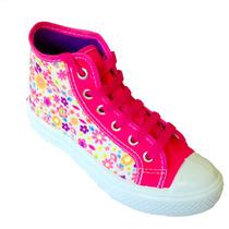 Tenis Infantil Escolar Coturno Floral Blitzz Star - Clique+