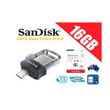 Memoria Usb Sandisk Ultra 16gb Dual Drive X Mayor Y Menor
