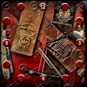 b626506ed16 Relógio Vintage King Mdf 27x27 Barber Shop Cloqbc.0442. R  29 98