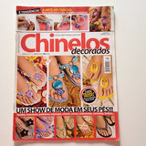 Revista Trabalhos Em Chinelos Decorados Tecido Cristais N°17