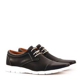 Zapatos De Vestir En Cuero Negro Batistella