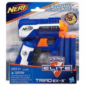 Nerf Pistola N-strike Elite Triad Ex-3 Micro Blaster Hasbro