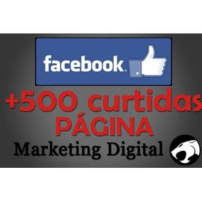 500 Curtidas/likes Página - Facebook
