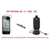Kit Manos Libres Iphone 4s 4 3gs 3 Lapiz Lamina Bluetalk