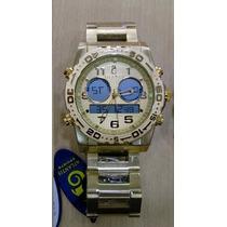 Relógio Original Atlantis Analogo Digital A3228 Aço Dourado
