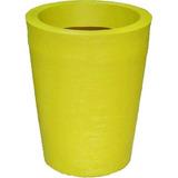 Vaso Polietileno Textura Grafiato Cor Amarelo Bg3 M 007