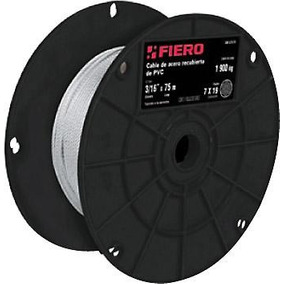Cable Acero Recubierto Pvc 1/4 7x19 Hilos 75 Mt Fiero 44224