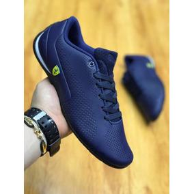 Tenis Zapatillas Puma Ferrari Azul Hombre Envio Gratis