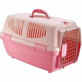 Caixa De Transporte Filhotes Cães E Gatos Gulliver N1 Rosa