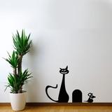 Adesivo De Parede Gato E Rato - Es 108x75cm