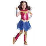 Fantasia Infantil Mulher Maravilha 4 A 9 Anos