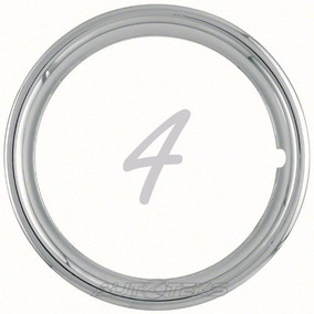 Jgo. 4 Aros Metálicos Cromados Rines 15 Trim Rings Arillos