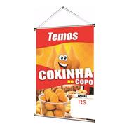 Banner Pronto Temos Coxinha No Copo