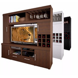 Modular Rack Mueble Mesa Tv Lcd Led Con Bodega Para 42 46 47