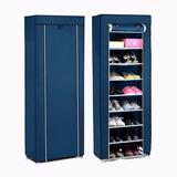 Closet De Tela Móvil Para Zapatos Azul / El Container