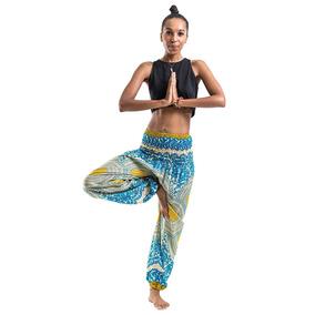 Pantalones Unisex De Tela De Tailandia Yoga Meditación