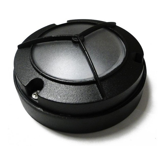 Aplique Exterior Mini Tortuga Led 5w Bulk Aluminio Negro