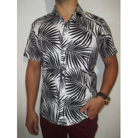 da30392fabba8 Camisa Social Slim Estampada Miuda - Camisa Casual Manga Curta ...