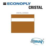 Plástico Bicapa Laserable Econoply Cristal / Dorado 60x40cm