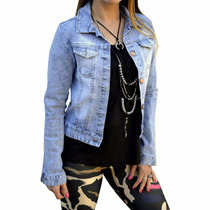 Campera De Jean Elastizada Mujer The Big Shop
