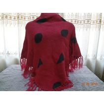 Poncho Infantil Feminino Pink Franjas -serra Negra