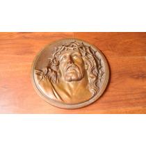 Cristo De Pared Bronce Fundido Pesado 90 Años De Antiguedad